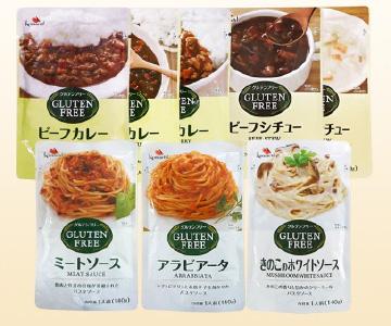 【グルテンフリー】パスタソース、カレー、シチュー