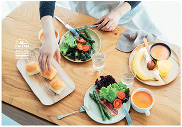 米パン FAHAN(ふぁはん)食卓風景